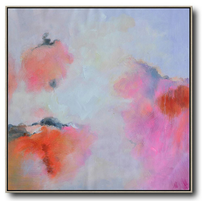 Oversized Contemporary Art,Oversized Art,Blue,Red,Pink,Purple