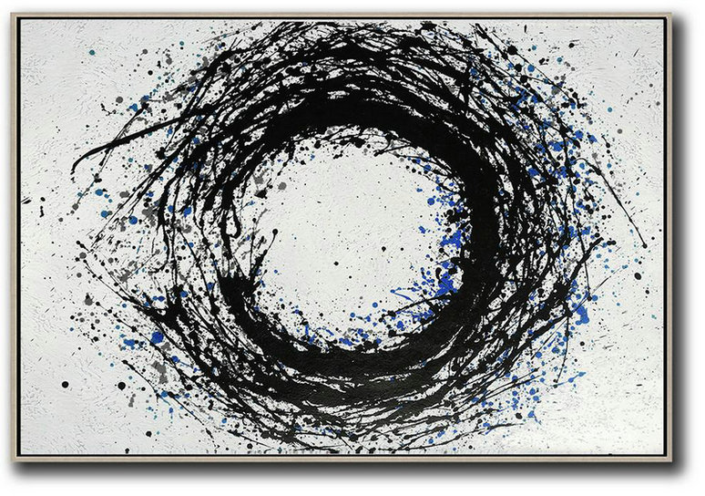 Hand-Painted Oversized Horizontal Minimal Art On Canvas,Canvas Wall Paintings #S0I7