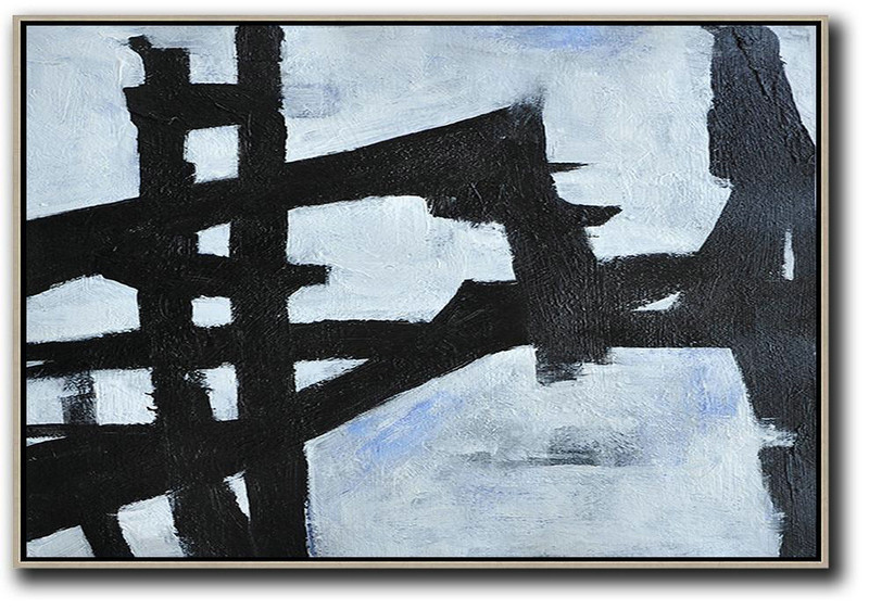 Oversized Horizontal Minimal Art On Canvas,Big Canvas Painting #G7H6
