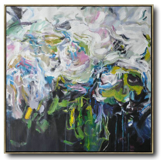 Abstract Flower Oil Painting Large Size Modern Wall Art,Giant Canvas Wall Art #E8V2