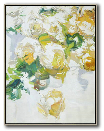Hame Made Extra Large Vertical Abstract Flower Oil Painting,Big Art Canvas #V2B8