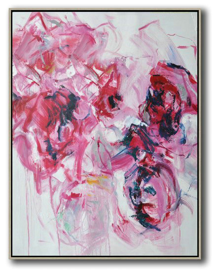 Hame Made Extra Large Vertical Abstract Flower Oil Painting,Acrylic Painting Large Wall Art #U6F5