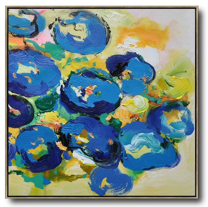 Oversized Palette Knife Painting Abstract Flower Painting On
