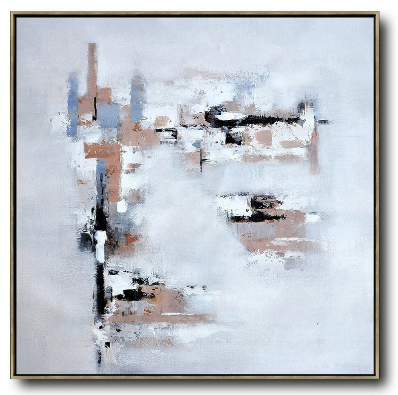 Oversized Contemporary Art,Canvas Paintings For Sale,Taupe,Grey,White,Black