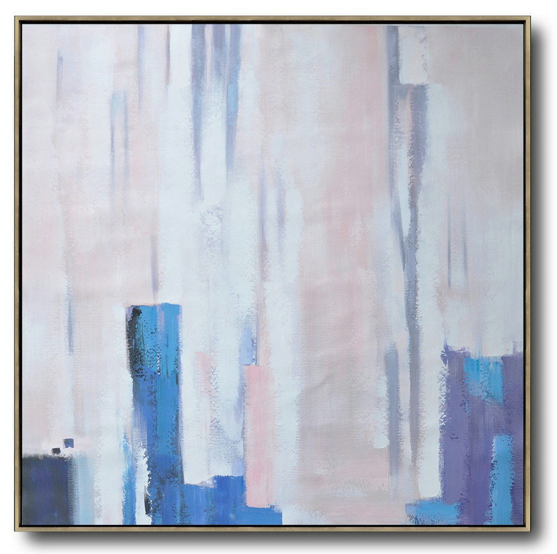 Oversized Contemporary Art,Wall Art Ideas For Living Room,White,Pink,Violet Ash