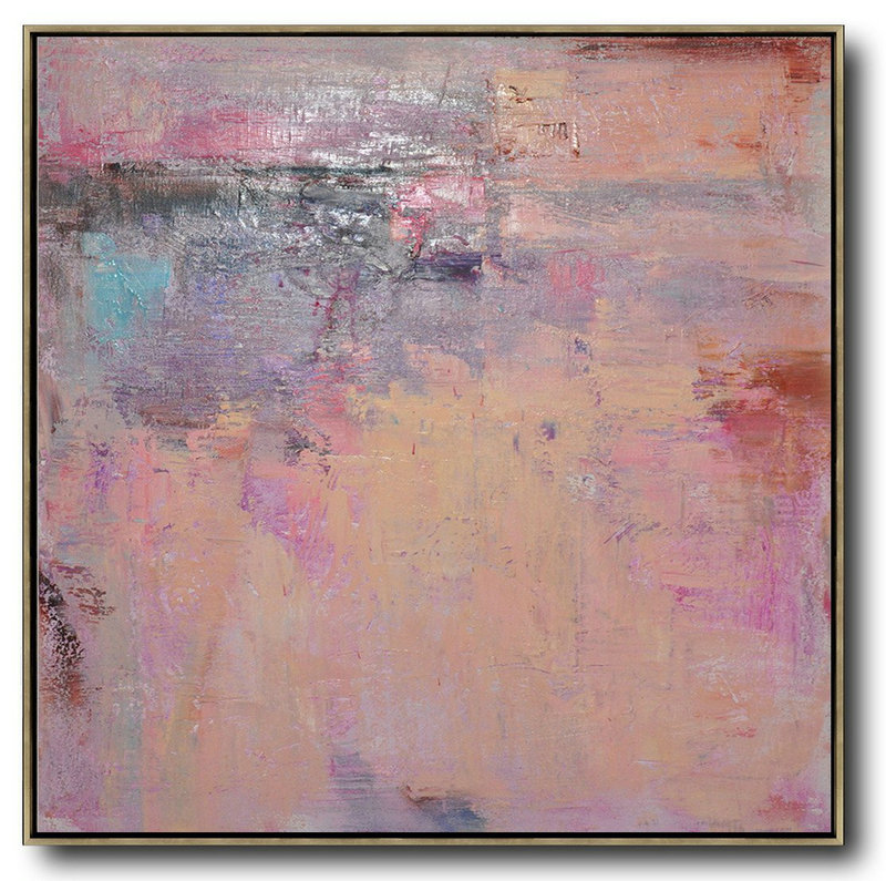 Oversized Contemporary Art,Oversized Canvas Art,Nude,Blue,Purple,Pink