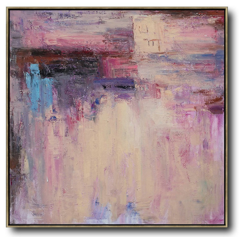 Oversized Contemporary Art,Oversized Art,Pink,Nude,Blue,Purple