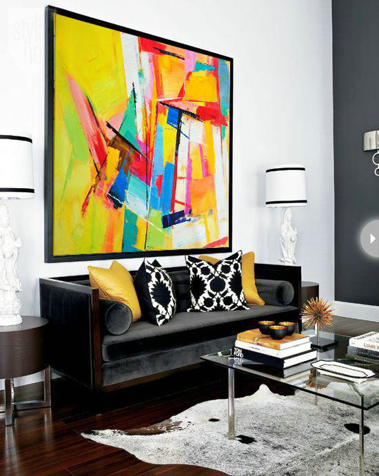 Oversized Palette Knife Painting Contemporary Art,Large Paintings ...