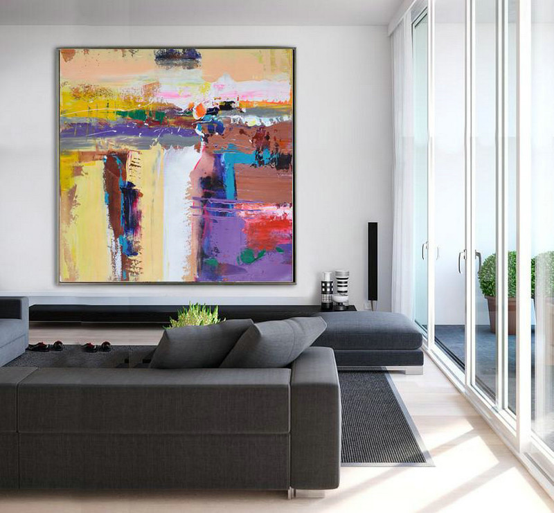 Oversized Palette Knife Painting Contemporary Art,Living ...