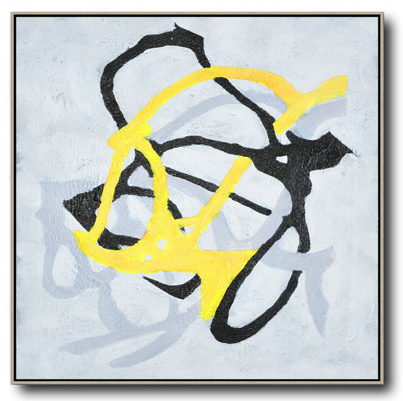 Hand-Painted Oversized Minimal Painting On Canvas,Contemporary Canvas Paintings #Q2I1