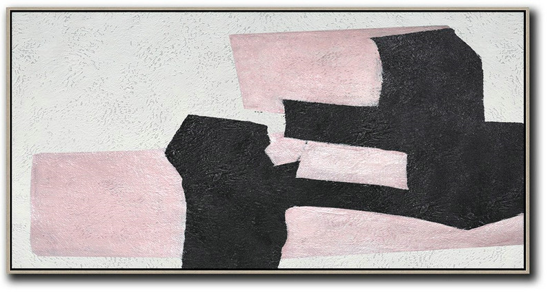 Hand-Painted Oversized Horizontal Minimal Art On Canvas,Hand Painted Aclylic Painting On Canvas #P3C1