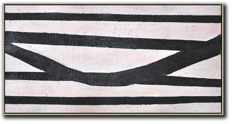 Hand-Painted Oversized Horizontal Minimal Art On Canvas,Large Canvas Art,Modern Art Abstract Painting #A7C6