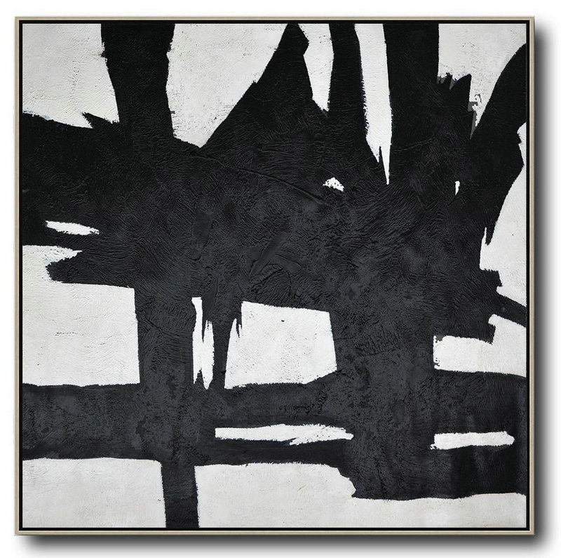 Oversized Minimal Black And White Painting Wall Art Ideas For Living Room G7q2 Big Canvas Art
