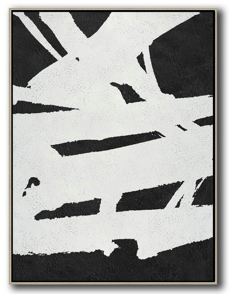 Black And White Minimal Painting On Canvas,Family Wall Decor #R5J4