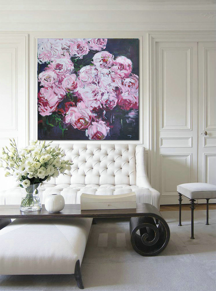 Abstract Flower Oil Painting Large Size Modern Wall Art,Canvas Wall Paintings #B9O0