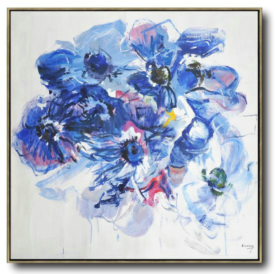 Abstract Flower Oil Painting Large Size Modern Wall Art,Giant Canvas Wall Art #E8O0