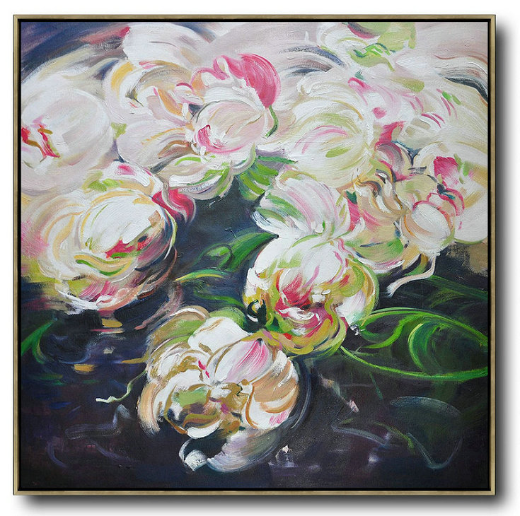 Abstract Flower Oil Painting Large Size Modern Wall Art,Abstract Artwork Online #Y1Z3