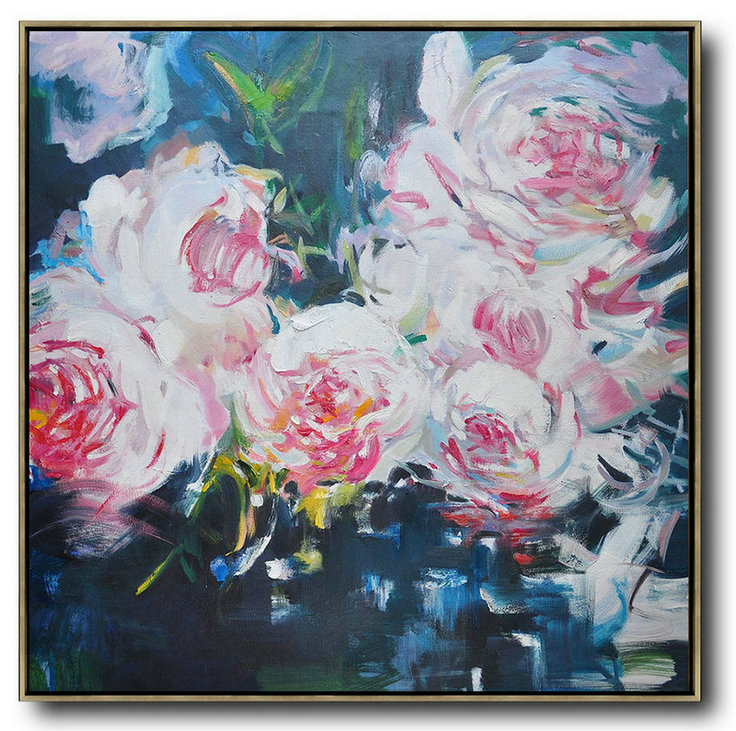 Abstract Flower Oil Painting Large Size Modern Wall Art,Canvas Artwork For Sale #Y0A3