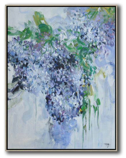 Hame Made Extra Large Vertical Abstract Flower Oil Painting,Modern Paintings On Canvas #S9O7